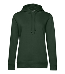 B&C_P_WW34B_Organic-hooded_women_forest-green_front_