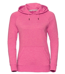 Russell-Ladies-HD-Hooded-Sweat-281F-Pink-marl-front