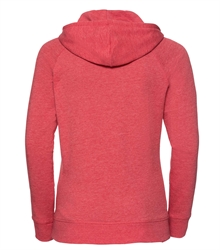 Russell-Ladies-HD-Hooded-Sweat-281F-Red-marl-back