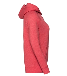 Russell-Ladies-HD-Hooded-Sweat-281F-Red-marl-side
