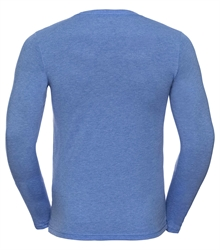 Russell-Mens-long-sleeve-HD-T-167M-blue-marl-back
