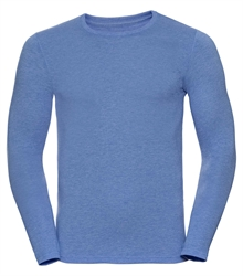 Russell-Mens-long-sleeve-HD-T-167M-blue-marl-front