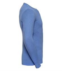 Russell-Mens-long-sleeve-HD-T-167M-blue-marl-side