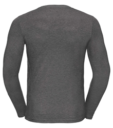 Russell-Mens-long-sleeve-HD-T-167M-grey-marl-back