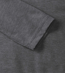 Russell-Mens-long-sleeve-HD-T-167M-grey-marl-detail-1