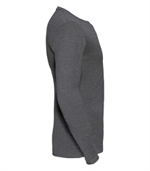 Russell-Mens-long-sleeve-HD-T-167M-grey-marl-side