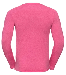 Russell-Mens-long-sleeve-HD-T-167M-pink-marl-back