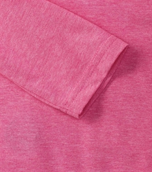 Russell-Mens-long-sleeve-HD-T-167M-pink-marl-detail-1