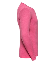 Russell-Mens-long-sleeve-HD-T-167M-pink-marl-side