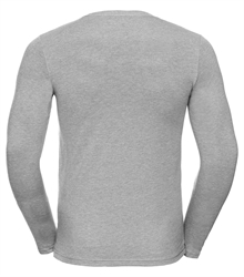 Russell-Mens-long-sleeve-HD-T-167M-silver-marl-back
