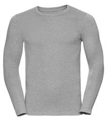 Russell-Mens-long-sleeve-HD-T-167M-silver-marl-front