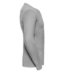Russell-Mens-long-sleeve-HD-T-167M-silver-marl-side