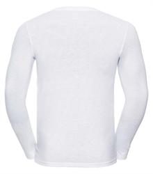 Russell-Mens-long-sleeve-HD-T-167M-white-back