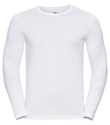 Russell-Mens-long-sleeve-HD-T-167M-white-front